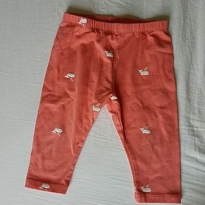 KIDS BUNDLE osh kosh orange/coral whale leggings